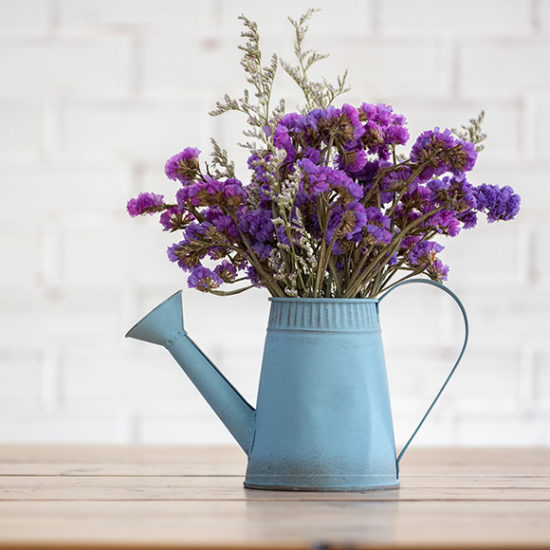 Flowers in a watering can home decor with home insurance by Insure Smart
